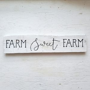 Farm Sweet Farm hand painted wooden sign